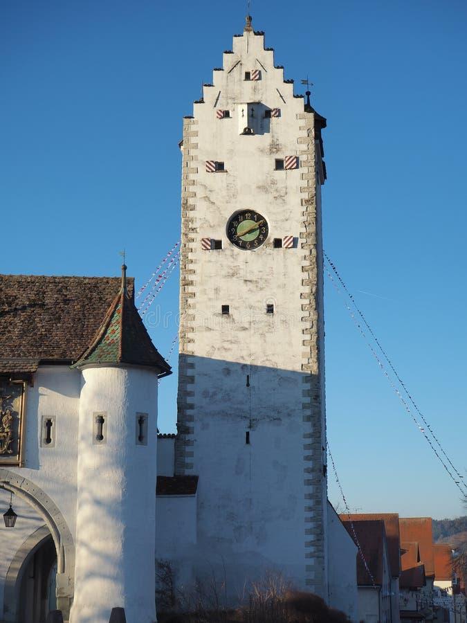 Pfullendorf, Германия Старая часть Oberes башни старых средневековых городищ города стоковое изображение rf