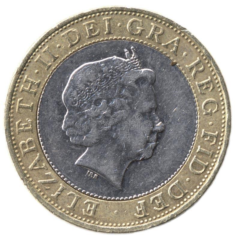 Pfund-Münze Briten-zwei (Frontseite) lizenzfreie stockfotos