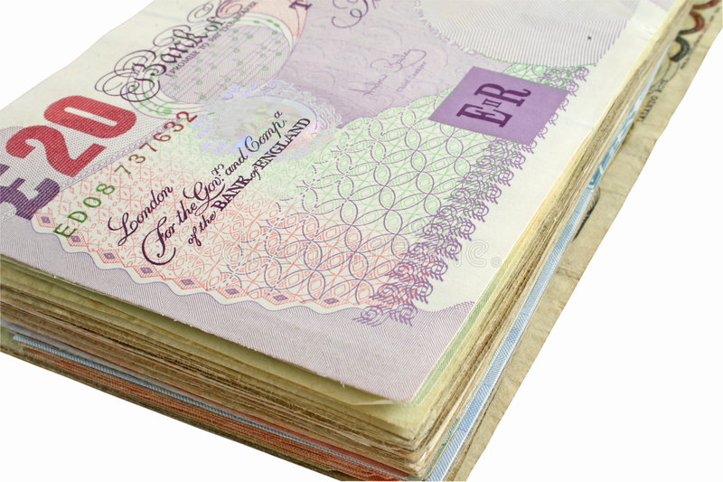 Pfund Sterling stockbild