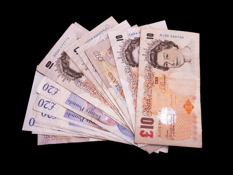 Pfund Sterling getrennt auf Schwarzem lizenzfreies stockbild