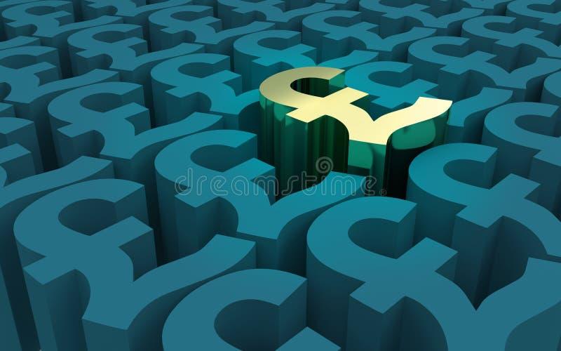 Pfund-Sterling Symbols-Muster vektor abbildung