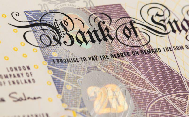 Pfundwährungshintergrund - 20 Pfund stockfoto