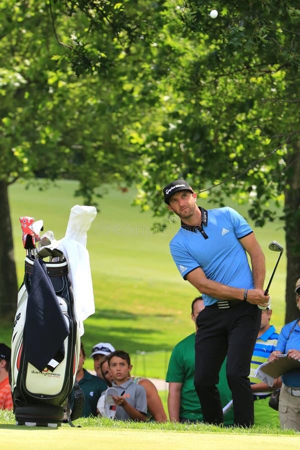 PGA赞成达斯汀・约翰逊 免版税库存图片