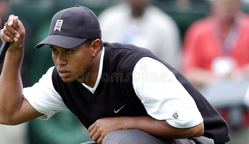 PGA Golf Superstar Tiger Woods. Professional Golfer legend Tiger Woods stock image