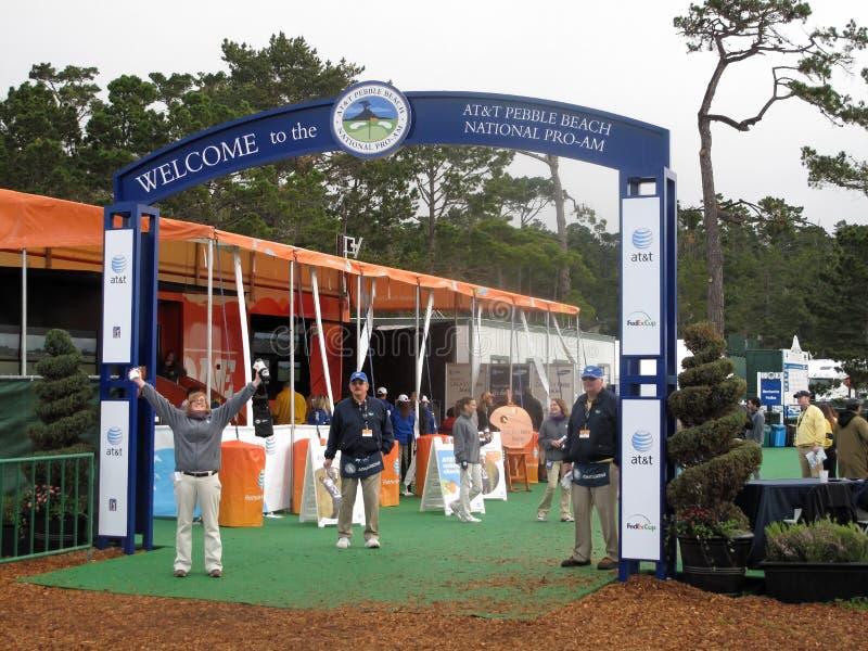 Download PGA Pebble beach entrance editorial stock photo. Image of california - 23389163