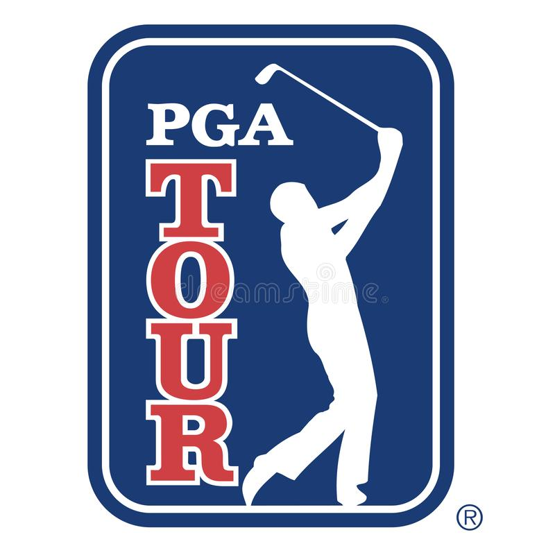 PGA tour icon. The PGA Tour is the organizer of the main professional golf tours played primarily by men in the United States and North America vector illustration