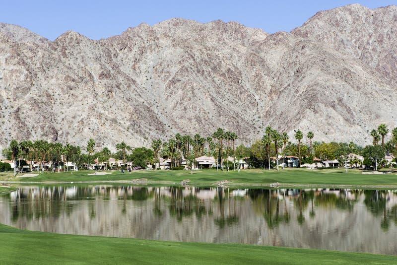 Pga västra golfbana, Palm Springs, Kalifornien fotografering för bildbyråer