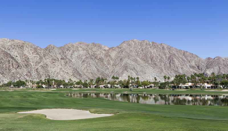 Pga västra golfbana, Palm Springs, Kalifornien royaltyfri foto