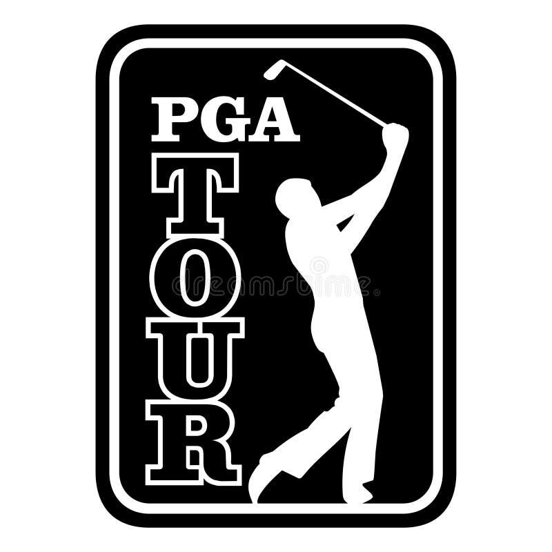 PGA wycieczki turysycznej ikona royalty ilustracja