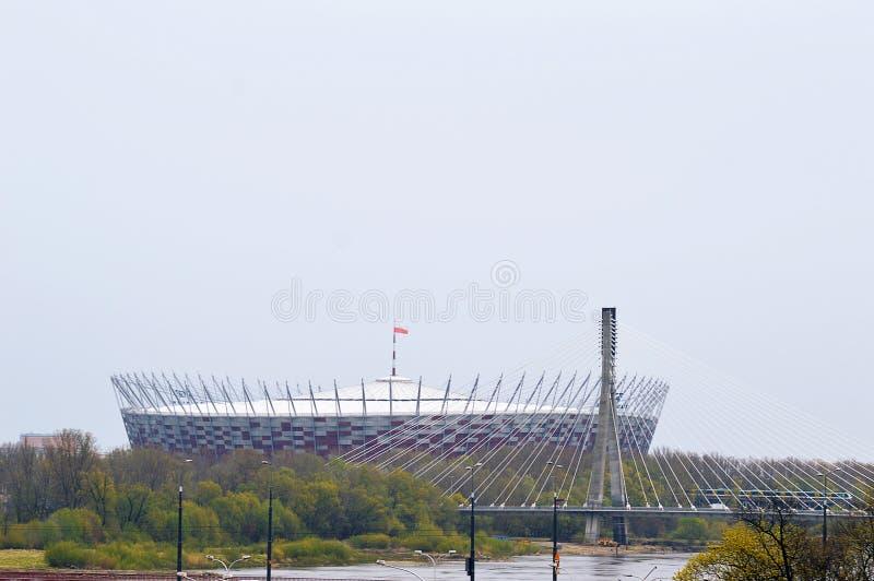 PGE Narodowy, krajowy stadion futbolowy, Warszawa, Polska fotografia royalty free