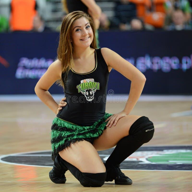 PGE Turà ³ w Zgorzelec cheerleader stock afbeelding