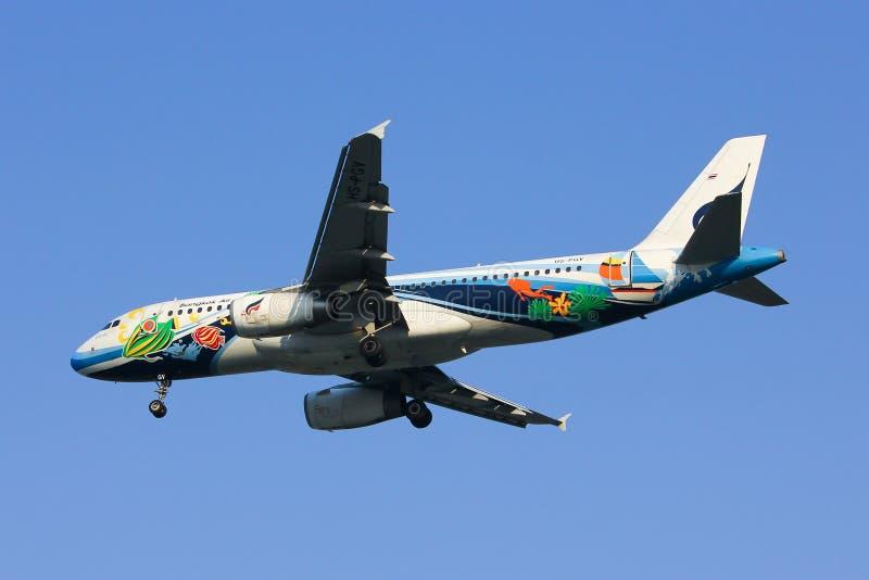 PGV Airbus A320-200 of Bangkokairway airline royalty free stock photo