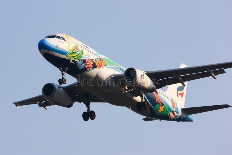 PGV Airbus A320-200 of Bangkokairway airline stock photography