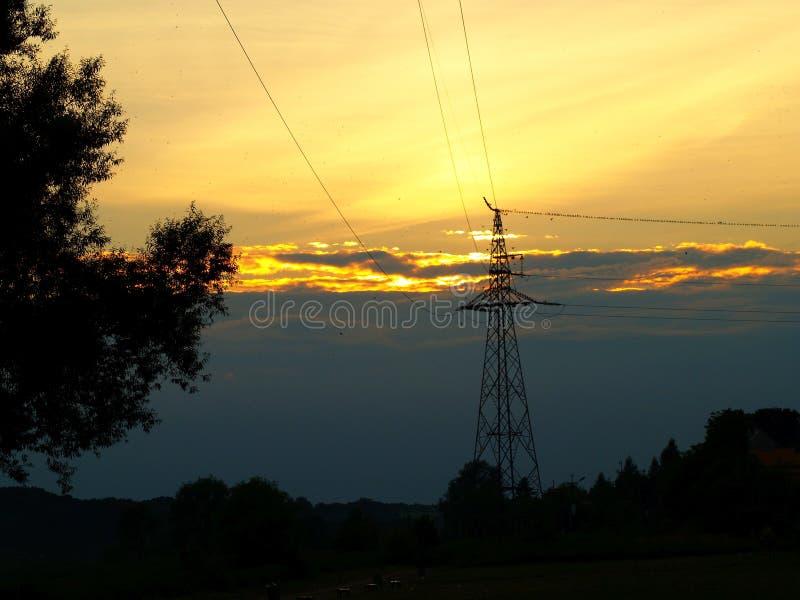 Phänomenaler Sonnenuntergang stockfoto