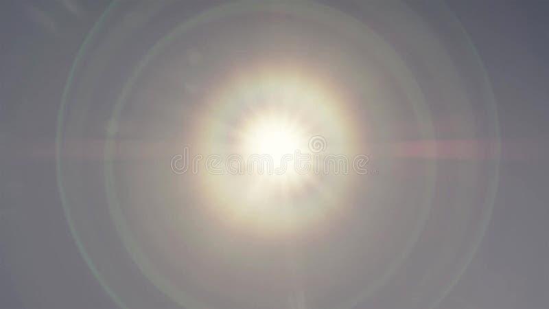 Phénomène de couronne du soleil sur le ciel bleu image stock
