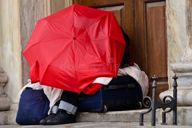 Phénomène des sans-abri photos libres de droits