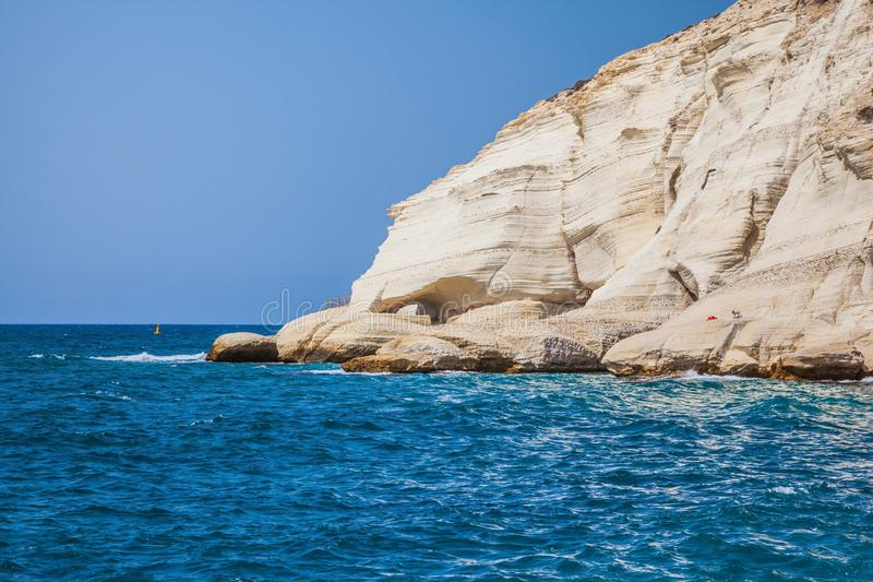 Phénomène géologique à la frontière avec le Liban image stock