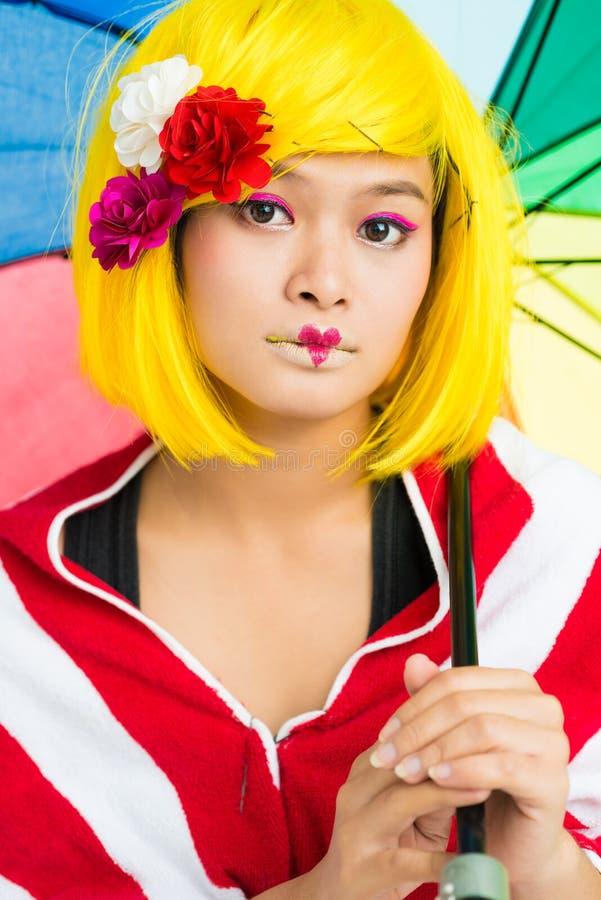 Phénomène réfléchi d'Asiatique photo libre de droits