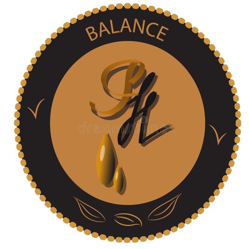 PH balansuje ikona wektor, ikona, układ, majchery ilustracji