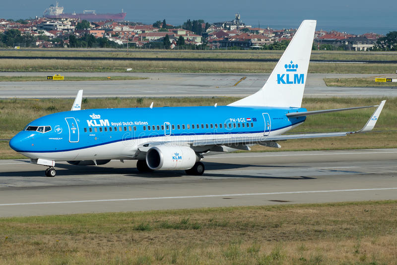 PH-BGE KLM Royal Dutch Fluglinien, Boeing 737 - 700 stockfotografie