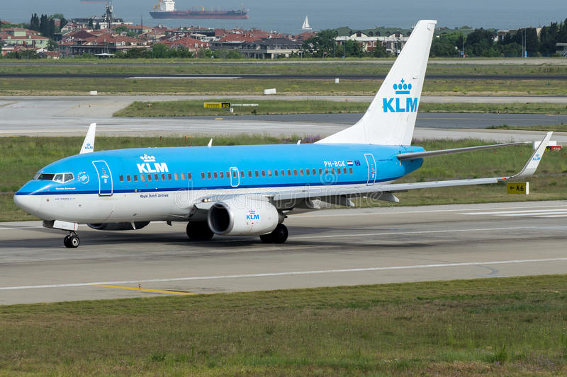 PH-BGK KLM Royal Dutch Fluglinien, Boeing 737-700 lizenzfreies stockbild