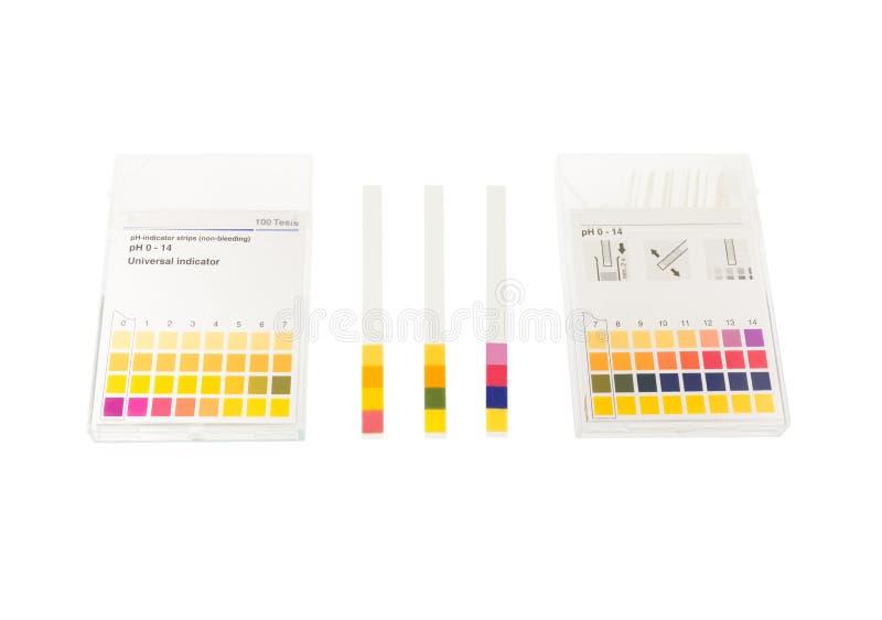 PH document met pH waarden stock afbeeldingen