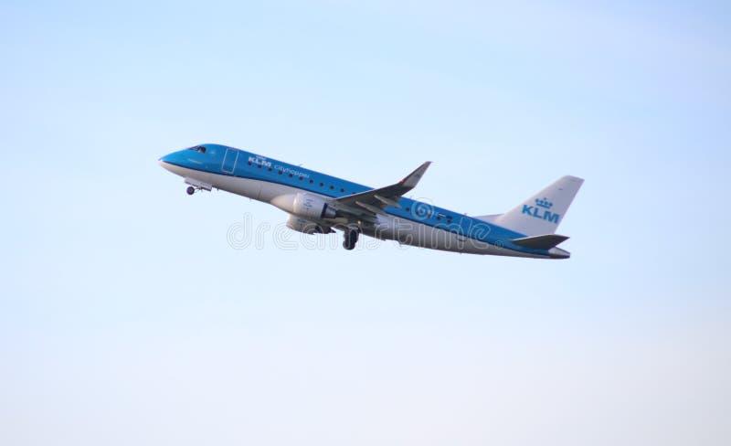 Airplane KLM Cityhopper PH-EXG Embraer ERJ-175 Editorial Image