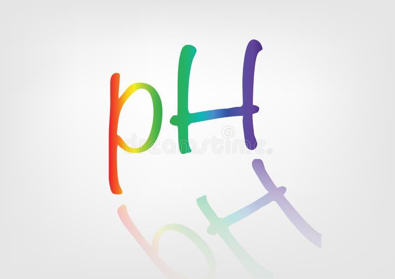 Ph-jämviktssymbol stock illustrationer