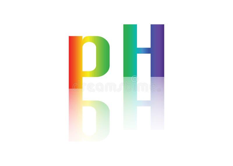 PH równowagi ikona royalty ilustracja