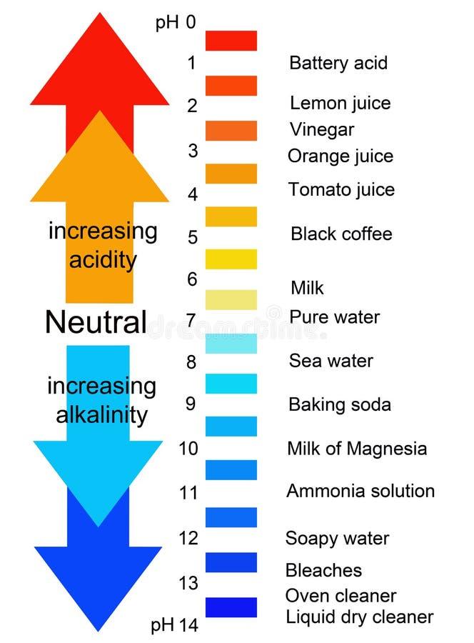 pH schaal royalty-vrije illustratie