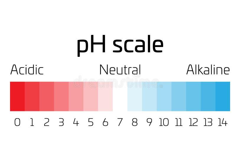 PH schaal Indicator van pH waarde die tarief van zuurheid of basiciteit in chemie uitdrukken stock illustratie