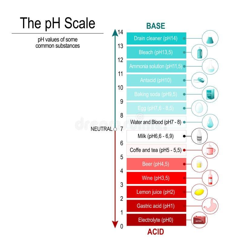 PH skala Wektorowy diagram royalty ilustracja