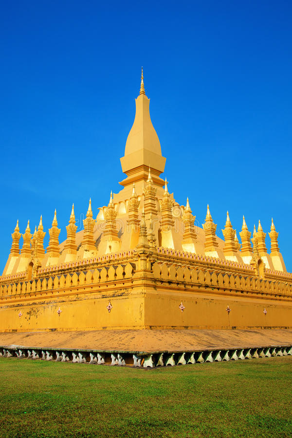 Pha ce stupa de Luang image stock