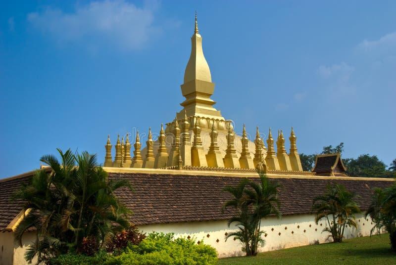 Pha che luang, Vientiaine, Laos. fotografie stock