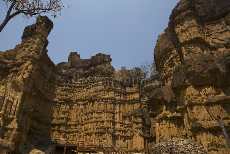 Pha Chor Canyon wonderful place in Chiangmai, Thailand. royalty free stock photos