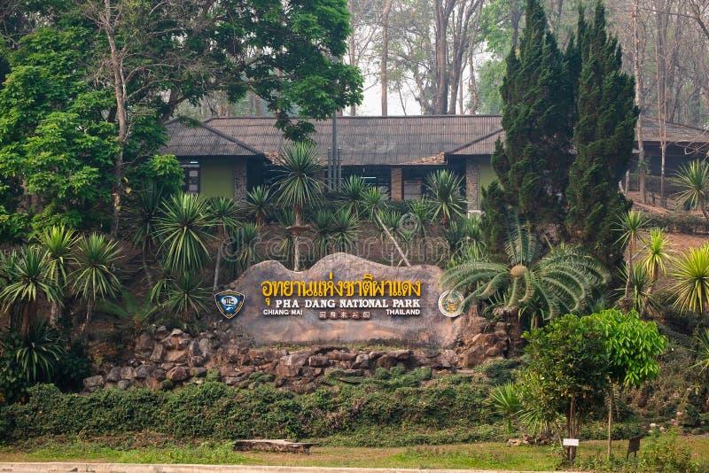 2019-04-03 Pha Dang National Park, Chiangmai Thailand royaltyfri foto