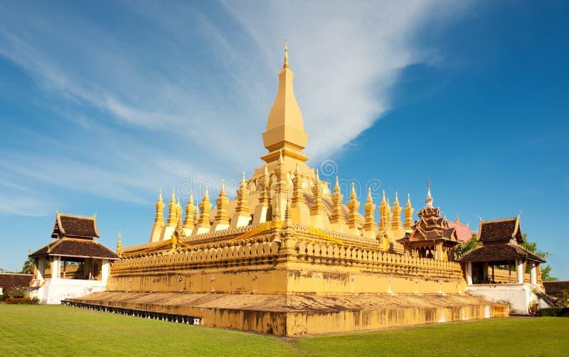 Pha die Luang monument, Vientiane, Laos. stock afbeelding