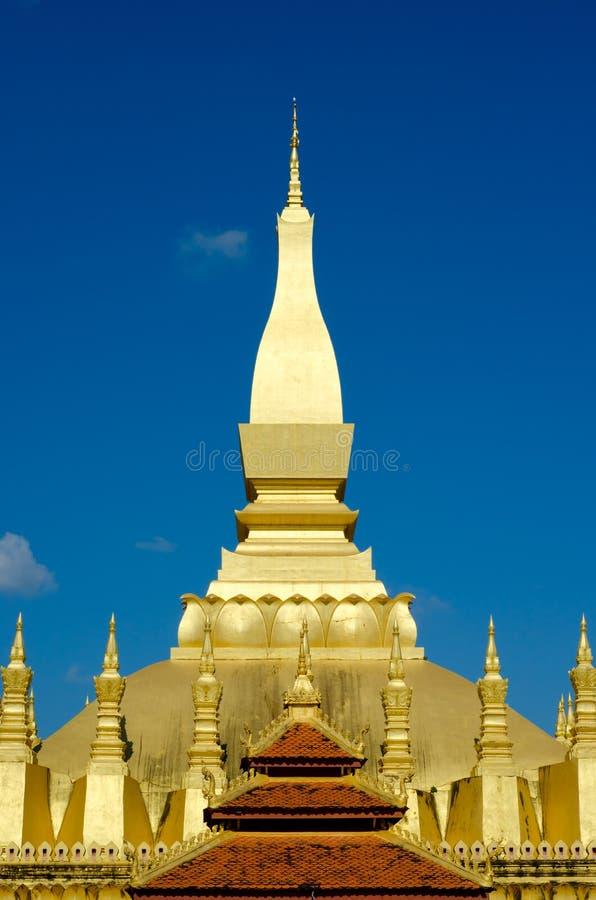 Pha Luang stupa在万象,老挝。 免版税库存照片