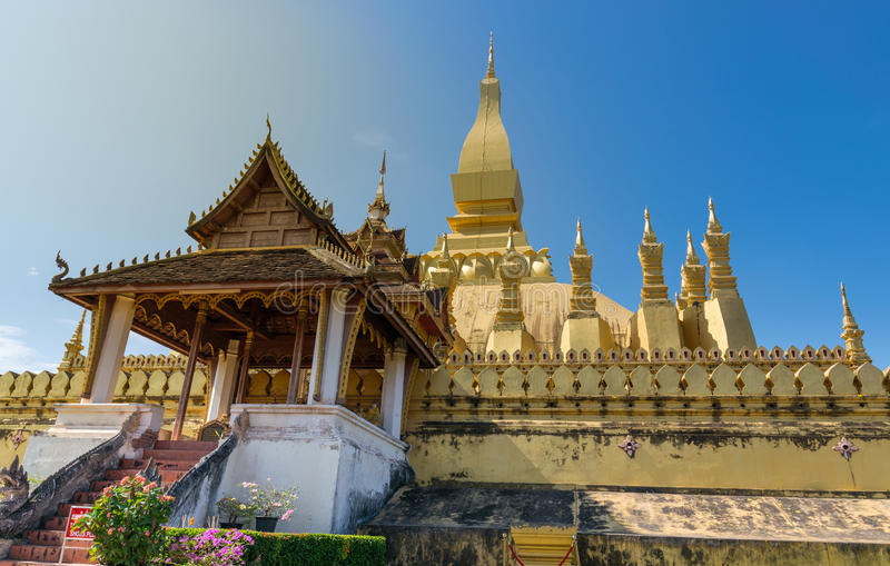 Download Pha que Luang foto de archivo. Imagen de laos, viaje - 64207876