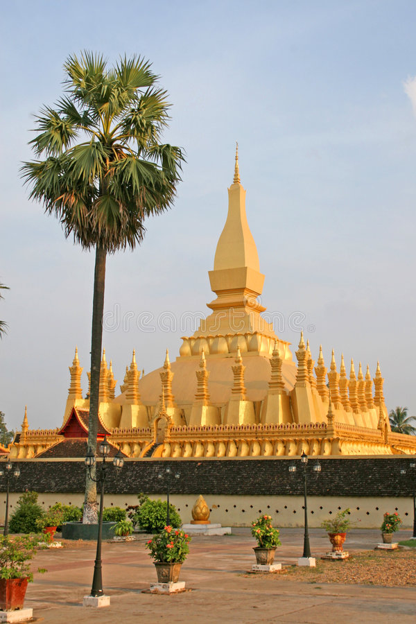Pha que Luang, Vientiane imagens de stock