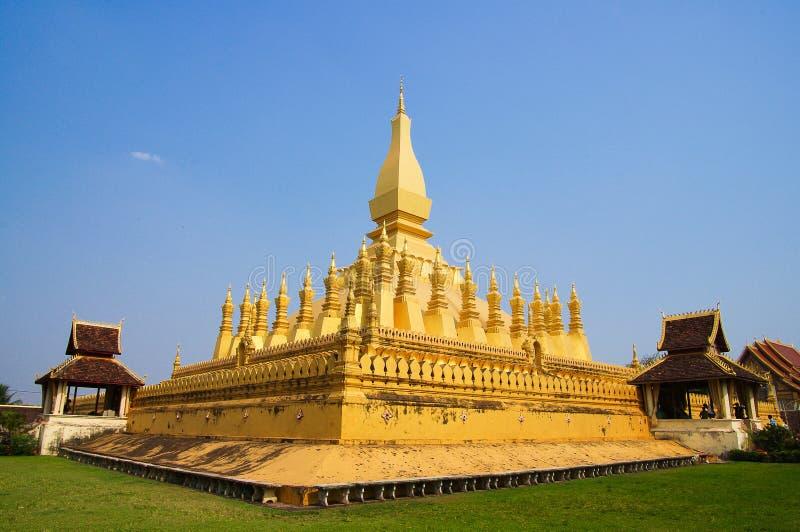 Pha quel tempiale di Luang a Vientiane fotografia stock