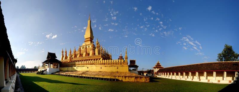 Pha qui Luang, Vientiane photo stock
