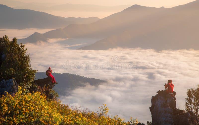 Pha Tung Mountain på Chiang Rai royaltyfria foton