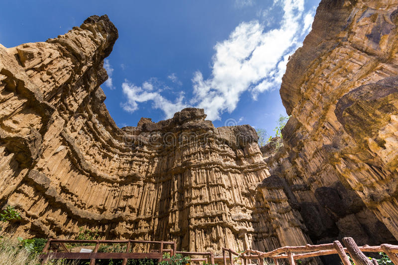 Phachor the canyon of Chiangmai stock images