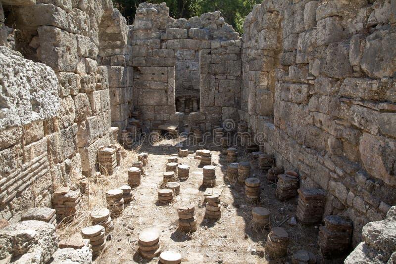 phaesalis ванн остают римскими стоковое изображение rf