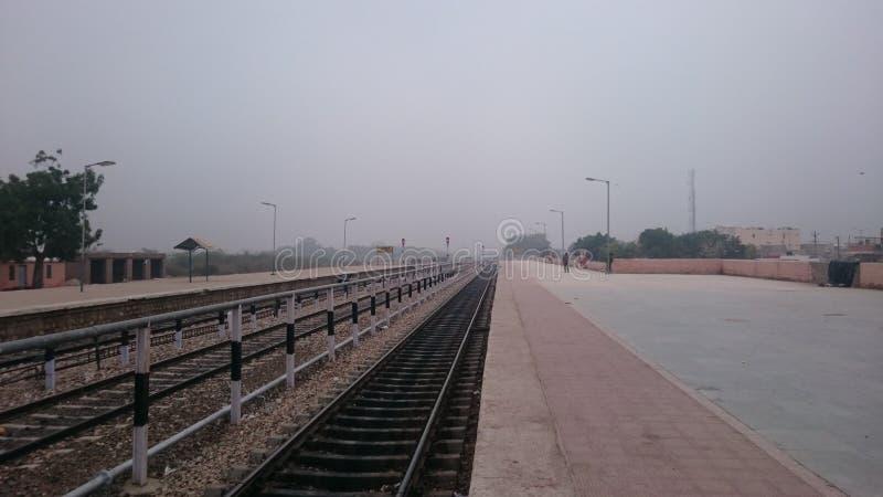 Phalodi railway station stock image