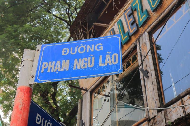 Pham Ngu Lao-straatcityscape Ho Chi Minh City Saigon Vietnam stock afbeeldingen