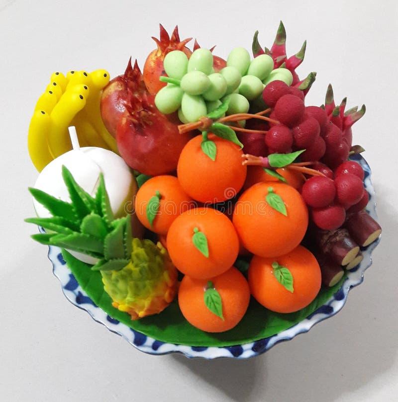 Phan, священный плод, тайская глина, прессформа стоковые фотографии rf
