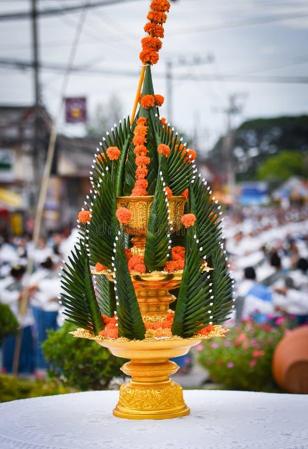 Phan Baci traditionnel thaïlandais - offrant images libres de droits