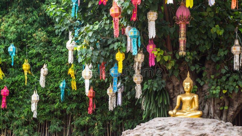 Phan Tao temple. Chiangmai, Thailand stock photography